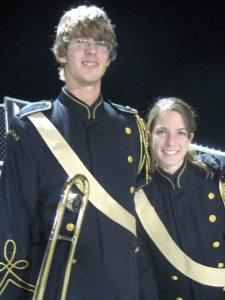 My brother and I at a football game, probably my junior year of high school